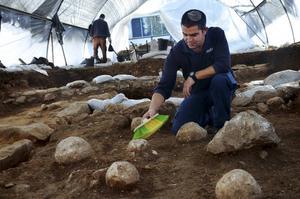 Utgrävning i Moshav Aluma i södra Israel.   Foto: IAA