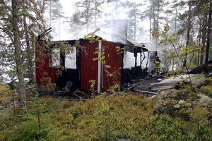 Brand sommarstuga Storvattnet