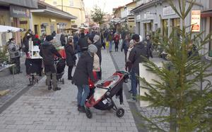 Julmarknad i Leksand - Norgatan.