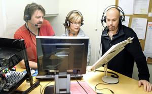 Taltidningsredaktörerna Olle Nordqvist Irene forsberg och Per Westrin