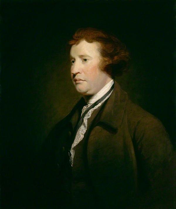 Edmund Burke. Målning av Sir Joshua Reynolds från 1771.
