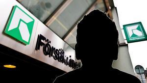 Mannen är för närvarande anställd vid en avdelning på Försäkringskassan i Sundsvall och ärendet har överlämnats till myndighetens personalansvarsnämnd. Bild: TT/Montage