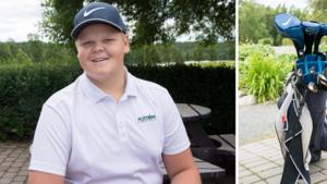 """Nu drar ÖA-golfen igång – 13-årige Noach från Ö-vik siktar på tredje raka: """"Känslan är att vi klarar det"""""""