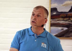 – Att våga tro på människorna och bygga ett samhälle tror jag är väldigt viktig och det är inte politiken som talar om vad människorna ska göra, säger Håkan Söderman från Moderaterna i Lekeberg.