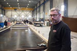 Den nya bygghallen gav större möjligheter, konstaterar Magnus Marklund.