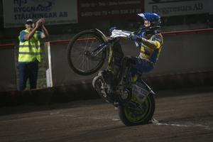 Västerviks juniorvärldsmästare Bartosz Smektala körde in 15+1 av 18 möjliga poäng på sex heat från reservplats.
