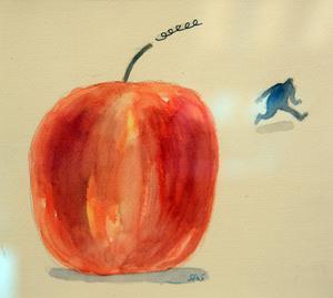 Humorn är en del av Stig Stjernbergs uttryck. Här