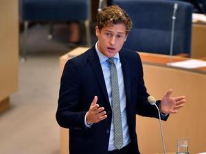 Emil Källström, debatterade i riksdagen.Bild: Anders Wiklund/TT
