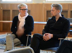 Anette Andersson och David Hellsing jobbar på kommunens säkerhetsavdelning.