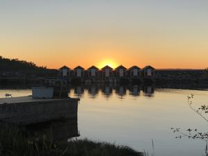 Fantastisk solnedgång I Junibosand! Foto: Ulrika  Wallin