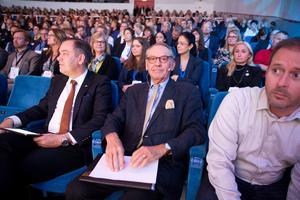 Jan Eliasson var en av dragplåstren på Stora näringslivsdagen på Aros Congress Center.