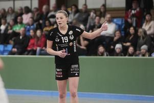 Unga starka skytten Tilda Ekvall har vuxit till en av de mest drivande spelarna i Strand – och noterade fina 100 mål som lagets näst mest effektiva.