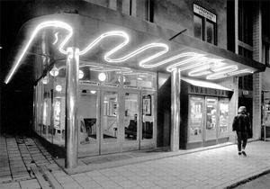 Roxybiografen på Nygatan gjordes om till olika restauranger. Foto: LT:s arkiv