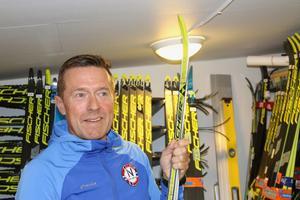 Den här skidan vann Tobias Fredriksson guld på vid ett stort mästerskap i början av 2000-talet.