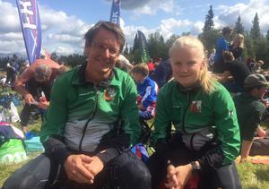 Ulf och Hanna Lindqvist tävlar ganska mycket och de var eniga om att terrängen vid Sörvallen var rolig att ge sig ut i.