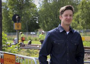 Mattias Nordlander, projektledare för järnvägsbytet.