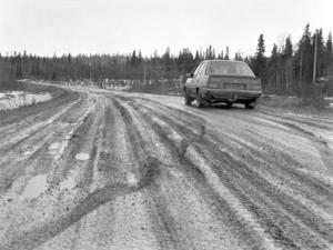 Skalstugevägen i början på 90-talet. Foto: Åke Nord