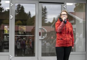 Åre kommun bygger för barn, förklararde ordförande i barn- och ungdomsnämnden Emma Nordin (M), när Mörsils nya högstadieskola invigdes för en tid sedan.