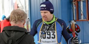 Ulf Jansson, Östervåla IF, efter Vasaloppet 2011. Foto: Niclas Bergvall