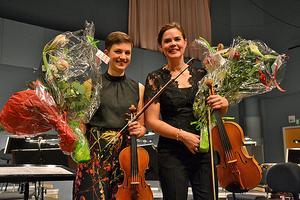 Konsertens höjdpunkt var Kurt Atterbergs Svit nr 3 för violin, viola och stråkorkester. Foto:  Anne Pettersson