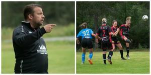 Skorpeds tränare Tommy Karlsson är imponerad av tjejernas säsong i division 2. Första gången damlaget spelat så högt upp. Bild: Viktor Holmström