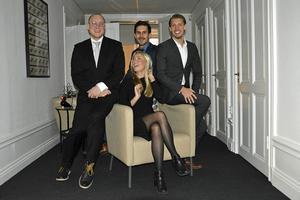 Pontus Puljer, Magnus Spolander, Mattias Matsson och Linnea Lindberg på Professionals Nords kontor Sundsvall.
