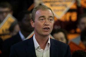 Tim Farron var partiledare för brittiska Libdem fram till 2017, men tvingades avgå därför att det blev svårt att vara evangelisk kristen och partiledare för en livsstilsliberalt parti.Foto: Matt Dunham/AP
