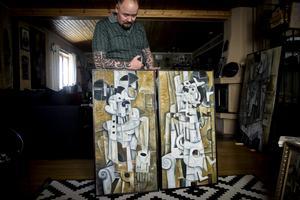 Många av Thomassons tavlor är repetitioner och parafraser på varandra.