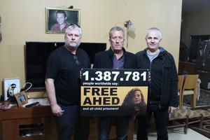 Paul Morris tillsammans med Bassem Tamimi och Paul Heron. Foto: Paul Heron