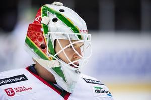 Olof Lindbom under matchen mot Modo den 11 december. Foto: Erik Mårtensson / BILDBYRÅN