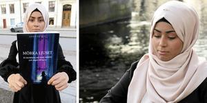 Zahra Ali Hashem med sin bok.