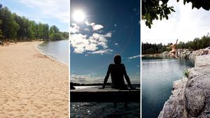 I Västerås finns många badplatser att välja på.Foto: Staffan Bjerstedt/Peter Krüger/Per G Norén