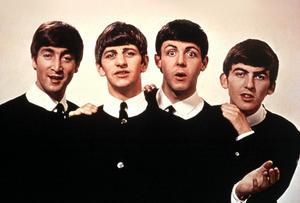 Popgruppen The Beatles med John Lennon, Ringo Starr, Paul McCartney och George Harrisson.  Foto: SCANPIX