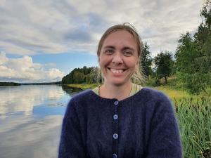 Madeleine Nilsson är arkeolog på Västernorrlands museum. Foto: Privat