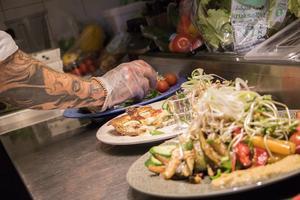 Menyn består av både vegetariska och veganska alternativ.