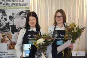 Felicia Bast Viklund och Viola Norén vann med sin rätt bestående av smashed potatoes, coleslaw och vegetariska biffar.