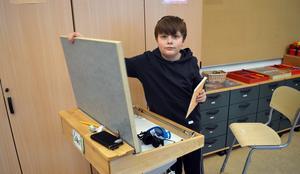 Elias Eriksson i femte klass har gått på Idkerbergets skola sedan andra klass.