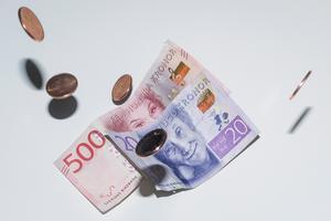 Svenska sedlar och mynt.Foto: Fotograferna Holmberg / TT.