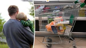 En pappa tvingades att lämna affären efter beskedet att hans barn hade skadat sig. Nu tackar han personen som tog hand om den fulla kundvagnen. Bilder: Hasse Holmberg/TT