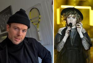 Jonas Lundqvist och Amanda Bergman på Lundqvists nya album