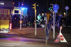 Bild: Roger Nilsson Olyckan inträffade vid Kristinaplan på morgonen den 21 november. Flera förbipasserande hjälpte till i väntan på räddningstjänst och ambulans.