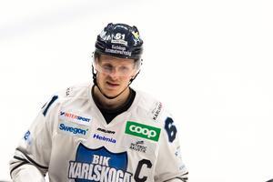 Mikael Eriksson gjorde mål när BIK slog SSK i januari 2018. Foto: Dennis Ylikangas/Bildbyrån