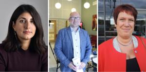 De socialdemokratiska ledamöterna Roza Güclü Hedin, Patrik Engström och Maria Strömkvist garanterar att balansen mellan fack och arbetsgivare ska upprätthållas så länge de leder regeringen.