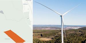 Varken grannar eller Borlänge kommun har ännu informerats om vindkraft-planerna. Kartbild: Havs- och vattenmyndigheten