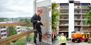Nytt hiss och balkongsystem pilotbyggs i Nacksta på  Kristinelunds äldreboende.