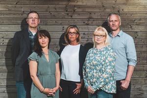 Erik Homestig, Therese Metz, Åsa Wiklund Lång, Helene Åkerlind, Jörgen Edsvik.