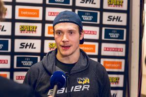 Didrik Strömberg gjorde ett av målen när HV71 besegrade Rögle.
