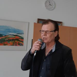 Ronny Sahlén underhöll på årsmötet den 21 februari på föreningscentret.