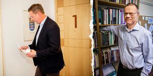 Hans Carlsson. Foto: Gunnar Stattin. Tage Alalehto, expert på ekonomisk brottslighet. Foto: Per A Adsten/VK.