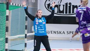 Med en räddningsprocent på 48 var Irma Schjött en av Sveriges viktigaste spelare i premiärsegern mot Tyskland. Arkivbild.